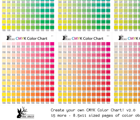 CMYK Color Chart part 2.0 - 1815 more colors! fabric ...