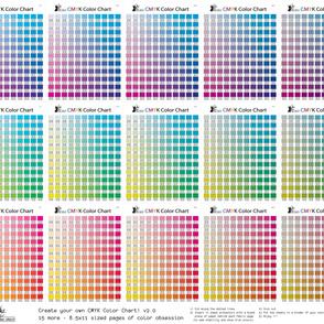 CMYK Color Chart part 2.0 - 1815 more colors!