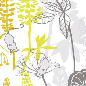 Lupins and Ferns yellow