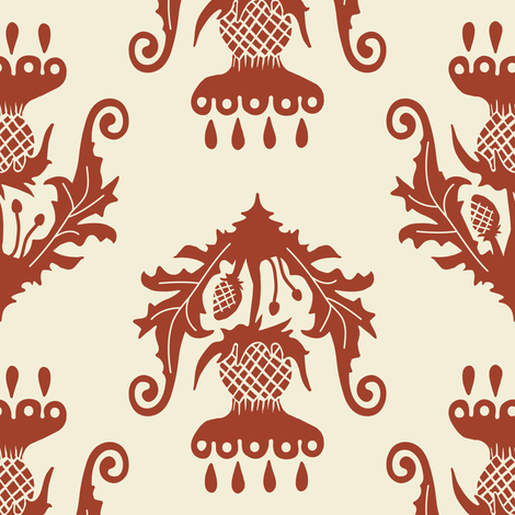 Thistle - apple fabric by rochelle_new on Spoonflower - custom fabric
