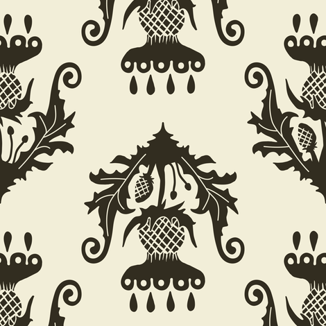 Thistle - pepper fabric by rochelle_new on Spoonflower - custom fabric