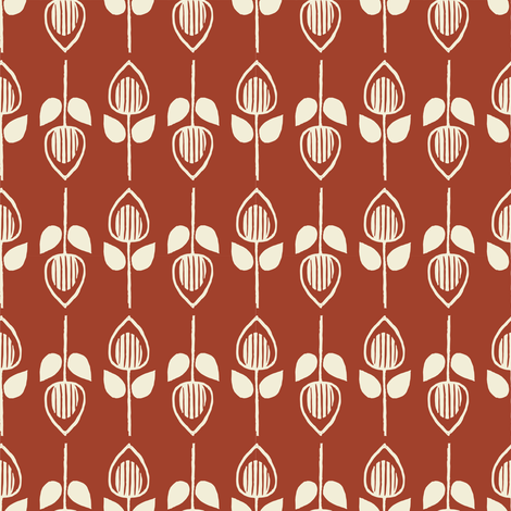 Tulip - apple fabric by rochelle_new on Spoonflower - custom fabric
