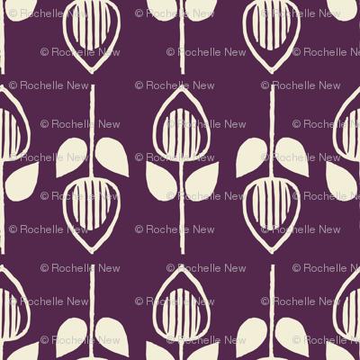 Tulip - eggplant