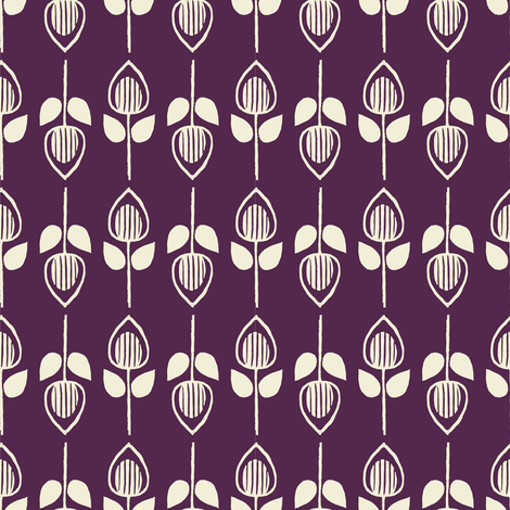 Tulip - eggplant fabric by rochelle_new on Spoonflower - custom fabric