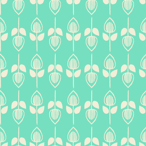Tulip - mint fabric by rochelle_new on Spoonflower - custom fabric