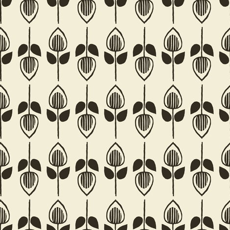Tulip - pepper fabric by rochelle_new on Spoonflower - custom fabric
