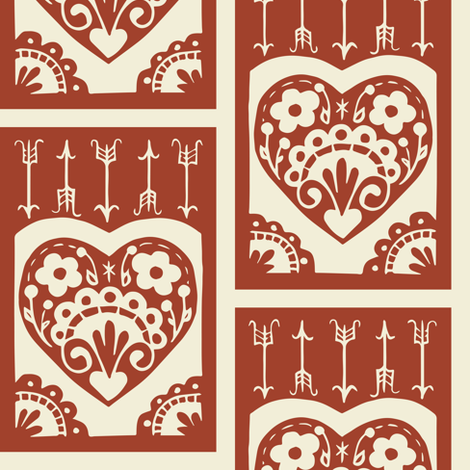 Valentine - apple fabric by rochelle_new on Spoonflower - custom fabric