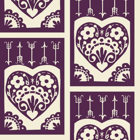 Valentine - eggplant fabric by rochelle_new on Spoonflower - custom fabric