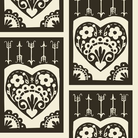 Valentine - pepper fabric by rochelle_new on Spoonflower - custom fabric