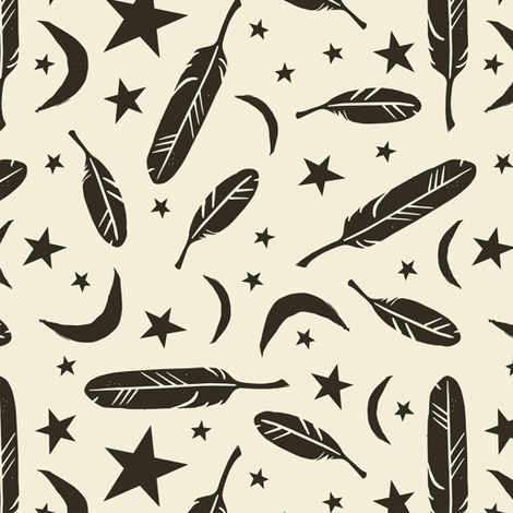 Night Messenger - pepper fabric by rochelle_new on Spoonflower - custom fabric