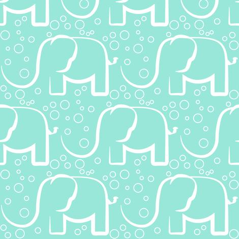baby jungle bubble mint elefant fabric by arrpdesign on Spoonflower - custom fabric
