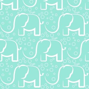 baby jungle bubble mint elefant