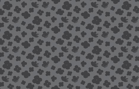Big Flowers by Friztin fabric by friztin on Spoonflower - custom fabric