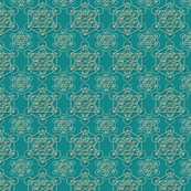 Metatrons Cube Pattern in Teal