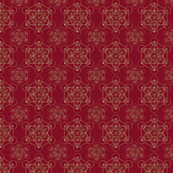 Metatrons Cube Red & Gold