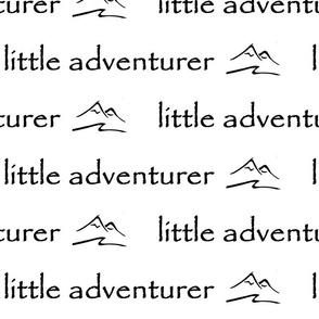little adventurer nursery // black & white