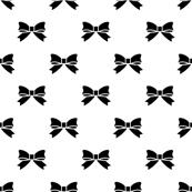 Black Bows on White
