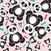 Panda Freefall in Pink