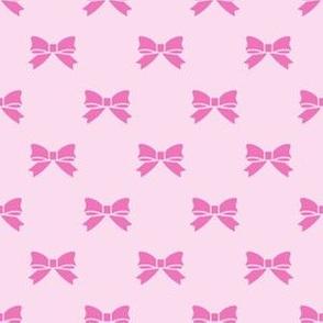 Dark Pink Bows on Light Pink