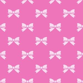 Light Pink Bows on Dark Pink