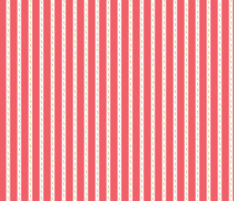 Red Summer Rose Stripe fabric by katebillingsley on Spoonflower - custom fabric
