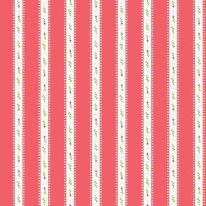 Red Summer Rose Stripe