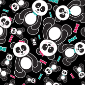 Panda Freefall in Black