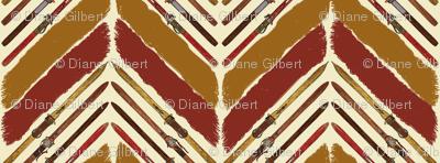 brush harringbone vintage ski by Diane Gilbert