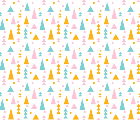 Geo Forest fabric by katebillingsley on Spoonflower - custom fabric