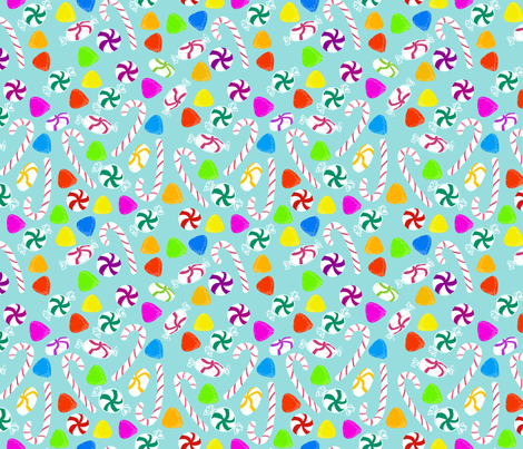 Holiday Sweet Blue fabric by argenti on Spoonflower - custom fabric