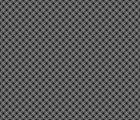 Black Overlapping Circles on Medium Gray fabric by mtothefifthpower on Spoonflower - custom fabric