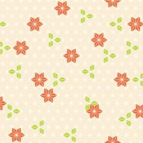 Asanoha flower-orange