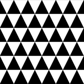 One Inch Black and White Triangles