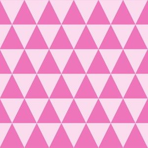 One Inch Dark Pink and Light Pink Triangles