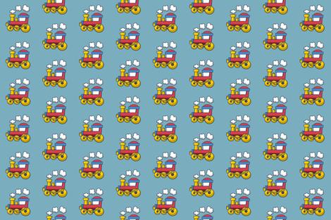 Choo Choo PJs fabric by terridee on Spoonflower - custom fabric