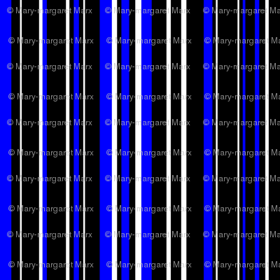 Black, Blue, and White Barcode Stripes