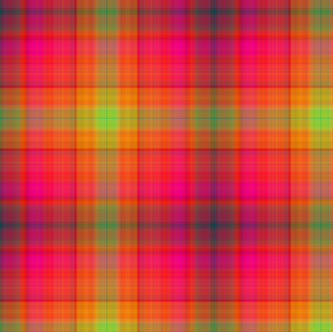 MICE MOUSE MADRAS PLAID orange red HARMONY fabric by paysmage on Spoonflower - custom fabric