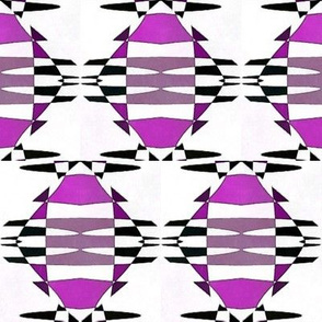 Complete Abstract in Purple and White