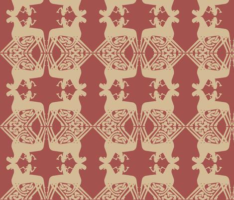 Viking design Sleipnir fabric by susie-lotta_designs on Spoonflower - custom fabric