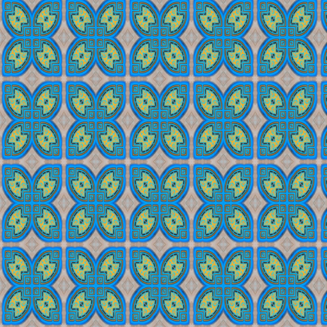 Morrocan_Blue_06 fabric by stradling_designs on Spoonflower - custom fabric