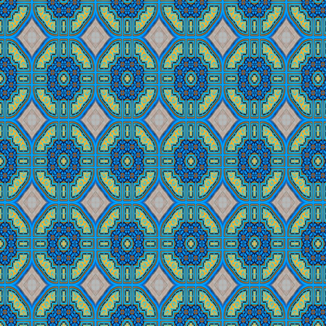 Morrocan_Blue_07 fabric by stradling_designs on Spoonflower - custom fabric