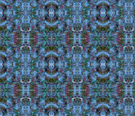 Fake Snake blue fabric by enid_a on Spoonflower - custom fabric