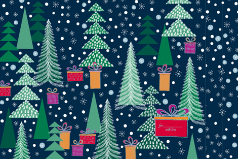 xmas gift bag fabric by sraka on Spoonflower - custom fabric