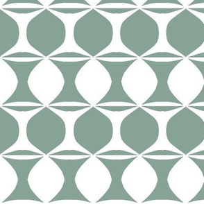 Alternate Stripe in Mint and White