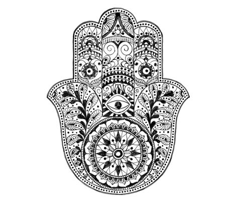 Large Hamsa Hand fabric by shopcabin on Spoonflower - custom fabric
