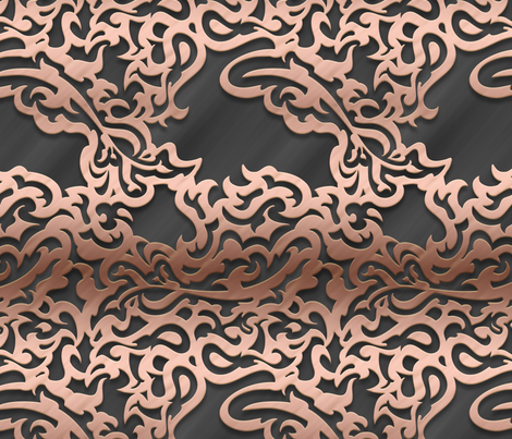 014 embossed metal - rose gold fabric by orange_octopus on Spoonflower - custom fabric