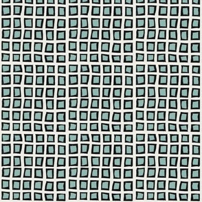 box grid in aqua