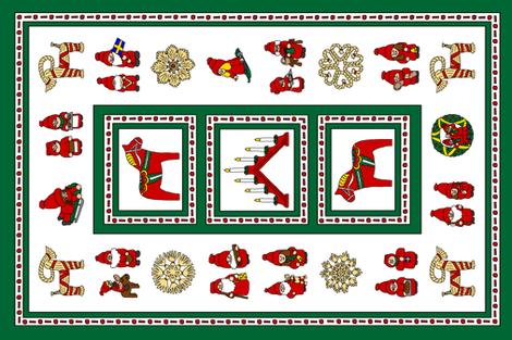 Tomte Tea Towel fabric by mischiefmuseum on Spoonflower - custom fabric