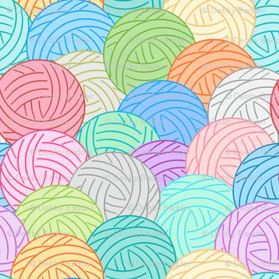 Balls of yarn - multi