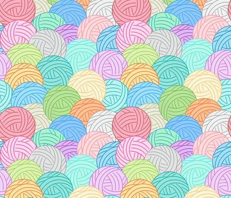 Balls of yarn - multi fabric by designed_by_debby on Spoonflower - custom fabric